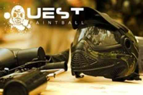 Quest Paintball - Paintballing For Five With Lunch and 100 Paintballs Each - Save 88%