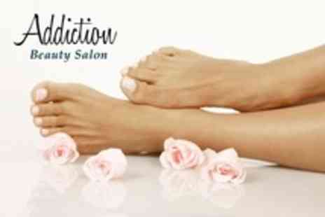Addiction Beauty Salon - Pedicure With Eyelash and Eyebrow Tint - Save 60%