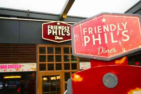 Friendly Phils - Choice of Burger, Side and Milkshake for One, Two or Four - Save 45%