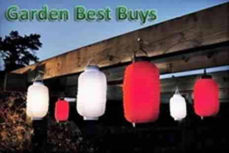 Garden Best Buys - Three Solar Powered Party Lanterns Packs of Six - Save 70%