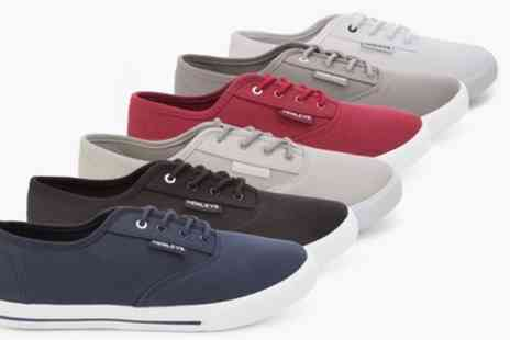 Groupon Goods Global GmbH - Henleys Mens Canvas Sneakers in Choice of Colour - Save 78%