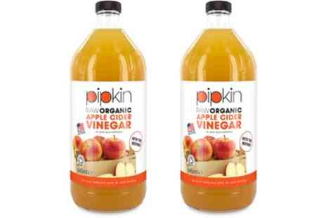 Groupon Goods Global GmbH - One or Two Bottles of Pipkin Raw Organic Apple Cider Vinegar - Save 60%