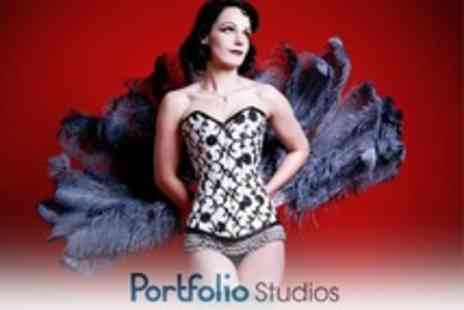 Portfolio Studios - Burlesque or Boudoir Photo Shoot With Makeover and Bubbly - Save 90%
