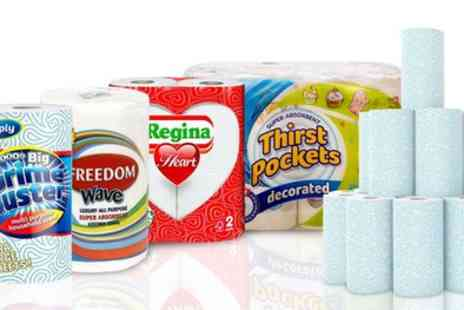 Groupon Goods Global GmbH - Up to 24 Rolls of Kitchen Towel Jumbo or Regular Sizes - Save 62%
