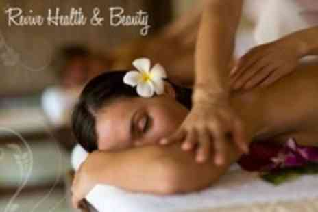 Revive Health and Beauty - Full Body Hot Stone Massage With Mens or Mini Facial - Save 66%