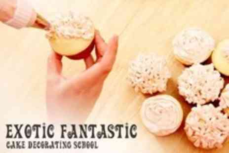 Exotic Fantastic - Three Hour Cupcake Decorating Workshop - Save 55%