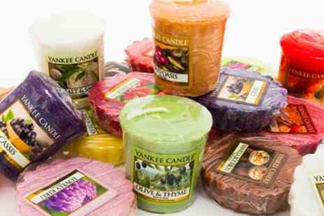 Groupon Goods Global GmbH - Up to 12 Yankee Candle Votive Candles or Up to 24 Melts - Save 72%