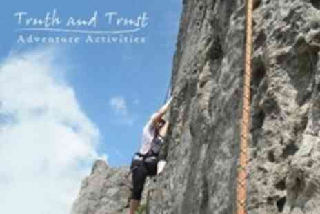Truth and Trust Adventure - Choice of Two of Full Outdoor Adventure Day Activities Such as Caving and Bridge Abseiling - Save 78%