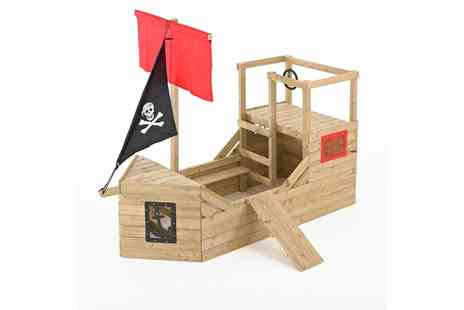 Groupon Goods Global GmbH - TP Toys Pirate Wooden Playhouse With Free Delivery - Save 0%