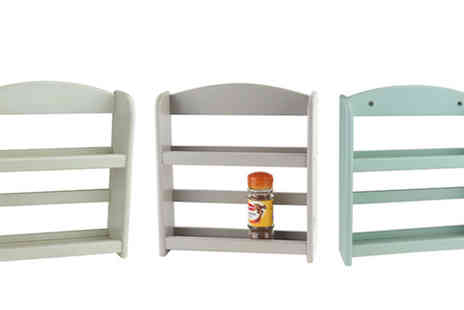 M&M Deals - 2 Tier Wooden Spice Rack in 3 Colours - Save 29%