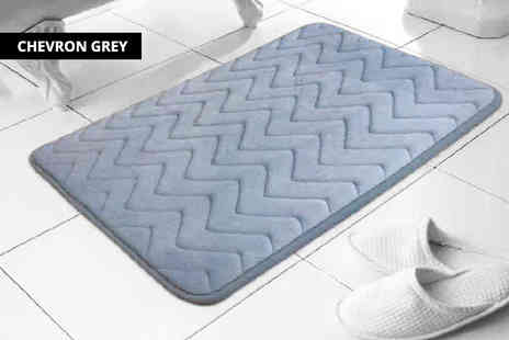 Omeco Limited - Memory foam bathmat choose from two designs - Save 53%
