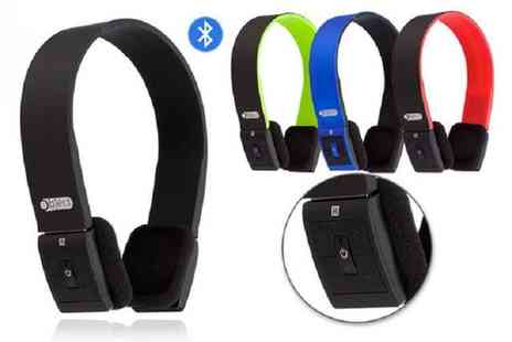 Spot Promotions - Pair of bluetooth over ear headphones choose from four colours - Save 0%
