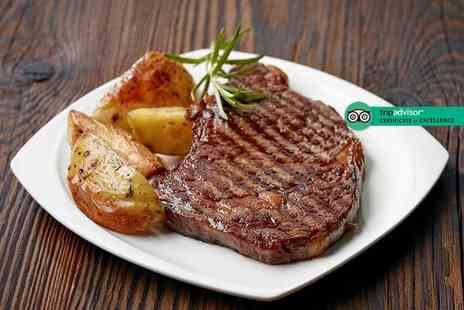 Zest Bistro - Rump steak with two sides each and a bottle of house wine to share for two - Save 34%