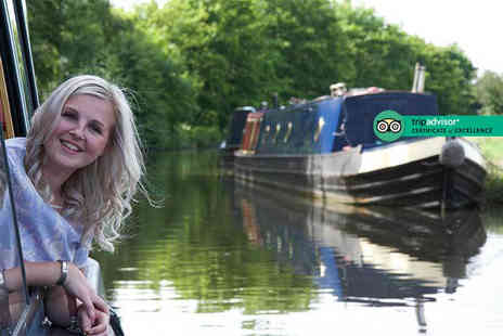Lancashire Canal Cruises - 90 minute canal cruise for one person with afternoon tea and a glass of wine - Save 48%