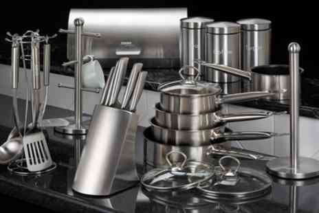 Groupon Goods Global GmbH - Cooks Professional 24 Piece Kitchen Set With Free Delivery - Save 74%