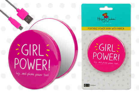 Venom Communications - Happy Jackson Girl Power portable charger and mirror - Save 53%