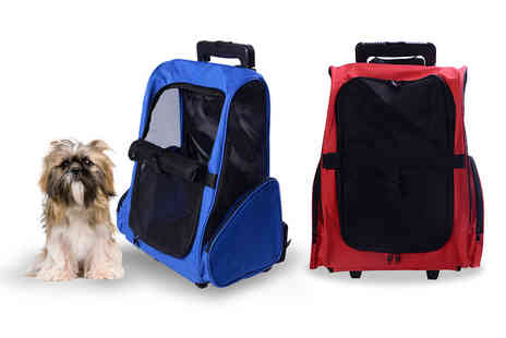 Aosom - Pet travel backpack with trolley - Save 59%
