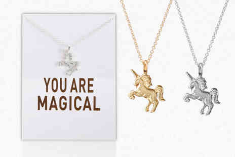 Solo Act - You Are Magical unicorn necklace choose from two colours - Save 83%