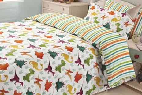 Groupon Goods Global GmbH - Single or Double Dreamscene Kids Reversible Duvet Sets - Save 75%