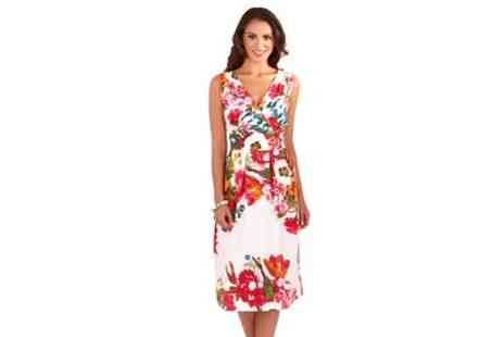 Groupon Goods Global GmbH - Floral Printed Cotton Summer Dress - Save 39%