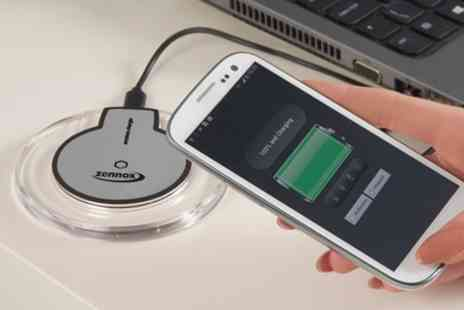 Groupon Goods Global GmbH - Wireless Charger Pad with Optional iPhone Adapter - Save 65%