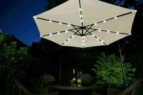 Groupon Goods Global GmbH - Cantilever Parasol with Led Light System and Optional Cover With Free Delivery - Save 58%