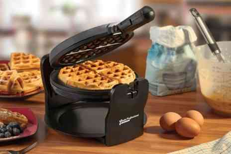 Groupon Goods Global GmbH - Cooks Professional Rotary Waffle Maker - Save 66%