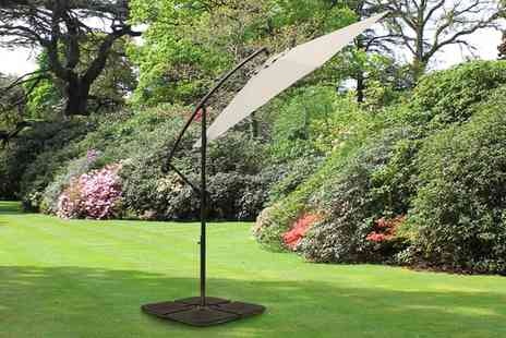 Groupon Goods Global GmbH - Cantilever Parasol in Choice of Five Colours With Free Delivery - Save 0%