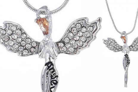 Your Ideal Gift - Guardian Angel Made With Crystals From Swarovski Choose 2 Colours - Save 88%