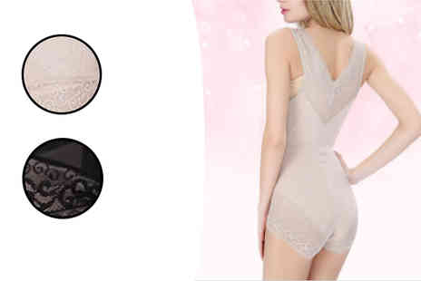 Best mall ever - Silhouette Shaping Spandex Bodysuit Choose 2 Colours - Save 74%