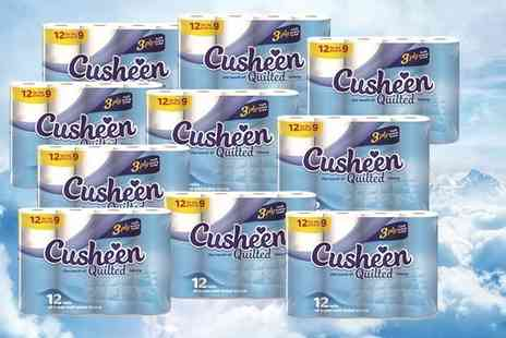 Global Merchant Support - 60 or 120 Cusheen quilted toilet rolls - Save 61%