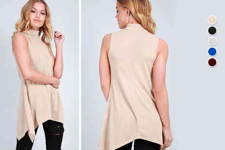 Be Jealous - Turtle neck swing top choose from five colours - Save 50%