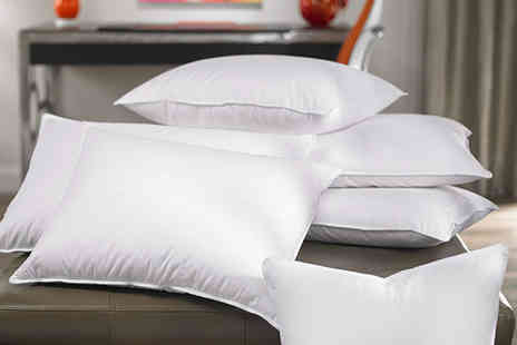 Black Feather - Four luxury duck feather and down pillows - Save 88%