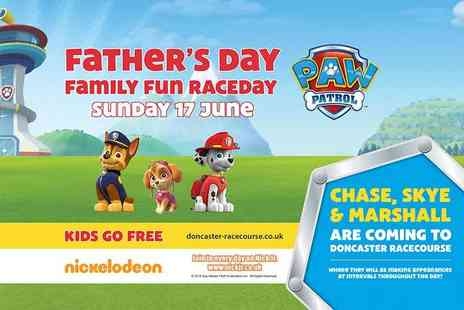 Doncaster Racecourse - Two adult tickets to the Fathers Day Family Fun Raceday with PAW Patrol, take up to three children for free - Save 38%