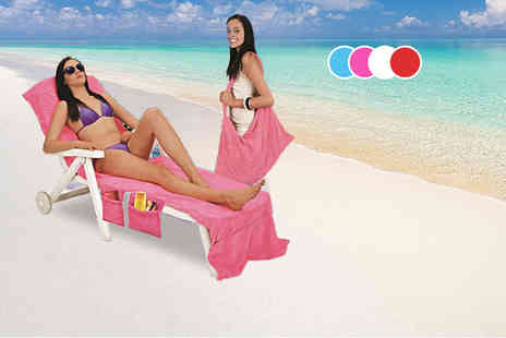 Pilot Imports - Lounger bag towel with pockets choose from four colours - Save 64%