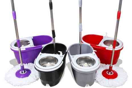 Groupon Goods Global GmbH - Davis and Grant Mop with Bucket, Strainer Basket and Mop Heads - Save 0%