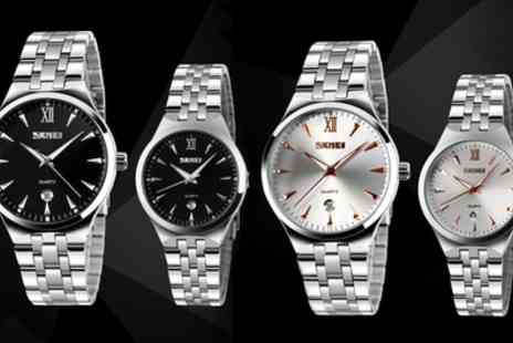 Groupon Goods Global GmbH - Unisex Stainless Steel Watch - Save 56%