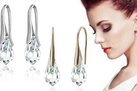Neverland Sales - One or Two Pairs of Mestige Drop Earrings with Crystals From Swarovski With Free Delivery - Save 79%