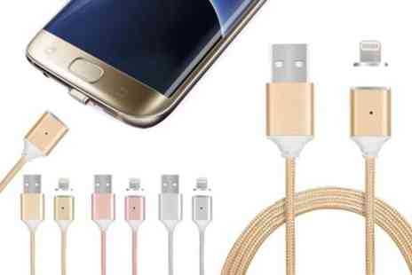 Groupon Goods Global GmbH - Magnetic Usb Charging Cable with Lightning or Micro Usb Connector - Save 71%