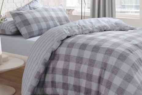 Groupon Goods Global GmbH - Pieridae Reversible Gingham Check Duvet Sets - Save 77%
