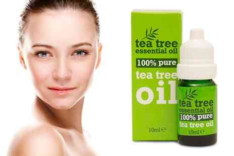 Groupon Goods Global GmbH - Two or Four Tea Tree 100% Pure Essential Oil 10ml Bottles - Save 81%