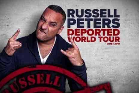 Russel Peters - One seated ticket to see Russell Peters on 24 April in Birmingham, 26 April in London or 28 April - Save 49%
