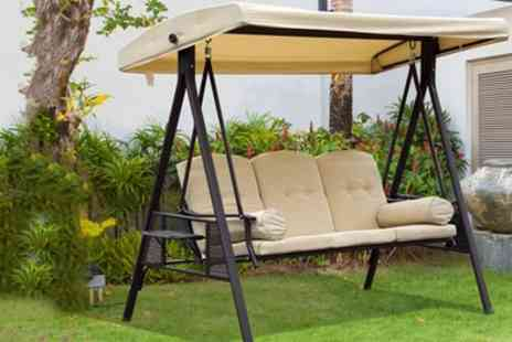 Groupon Goods Global GmbH - Outsunny Three Seater Outdoor Swing Canopy - Save 12%