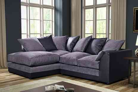 Groupon Goods Global GmbH - Byron Left Hand or Right Hand Fabric Corner Sofa With Free Delivery - Save 0%