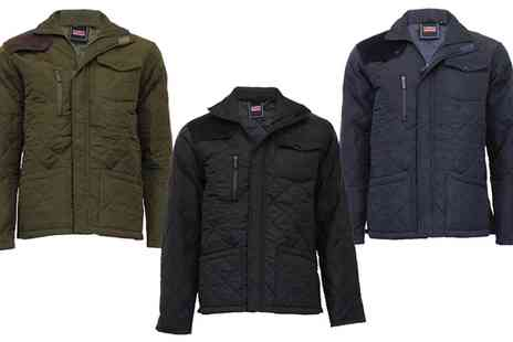 Groupon Goods Global GmbH - Mareno Quilted Jacket with Corduroy Details - Save 0%