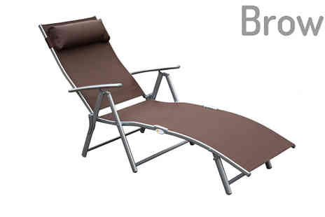 Mhstar - Weather Resistant Reclining Sun Lounger in 4 Colours - Save 60%