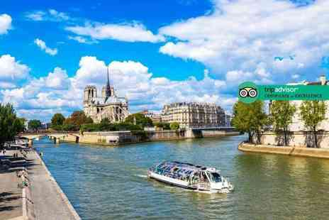 Short Break - Day trip to Paris with Eurostar transfers and River Seine cruis or one, two or three night stay with Montparnasse Tower entry - Save 63%