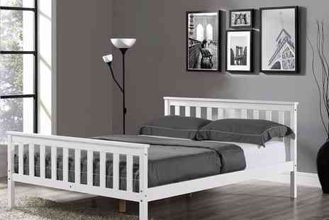 jia Interiors - White contemporary wooden bed - Save 82%