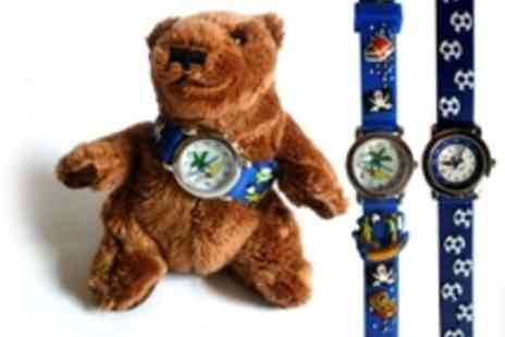 Kids Learn Languages - Childrens 3D time watch with a teddy bear 4 designs - Save 50%