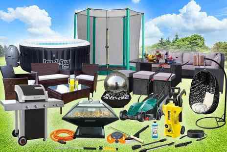HCI Distribution - Garden mystery deal from rattan corner sofa set, garden sprinkler, Lay Z Spa hot tub, Gas BBQ and more - Save 0%